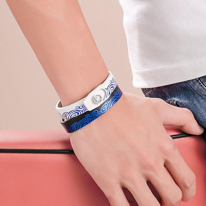 GINTAMA Sport Wristband PU Կաշվե ստերլինգ արծաթ 925 - Խաղային արձանիկներ - Լուսանկար 4