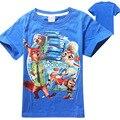 Оптовая продажа 5 шт./лот приспешников мальчиков футболка мультфильм детская одежда zootopia футболки хлопок одежда для девочек случайные дети футболки