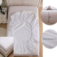 Cotton Terry Matress Cover, Mattress Protector, 100% Waterproof Anti Mite Folding Mattress Pad Cover, 4 colors 4 Sizes Optional
