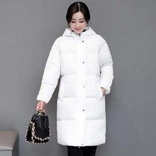 Women winter Clothing hooded Jacket Winter Female 2017 new Stylish Long Parka Coats loose thicker Warm Womens Winter Coat QH0400(China)