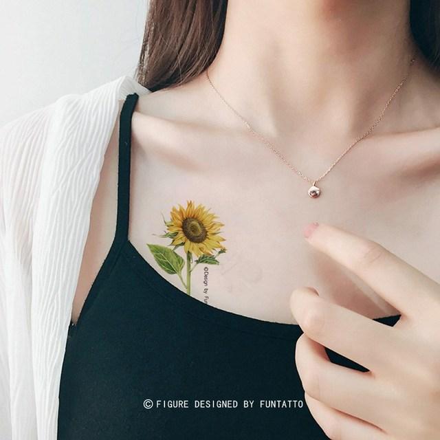 Soleil D Origine Tournesol Tatouage De Frais Fleurs Etanche