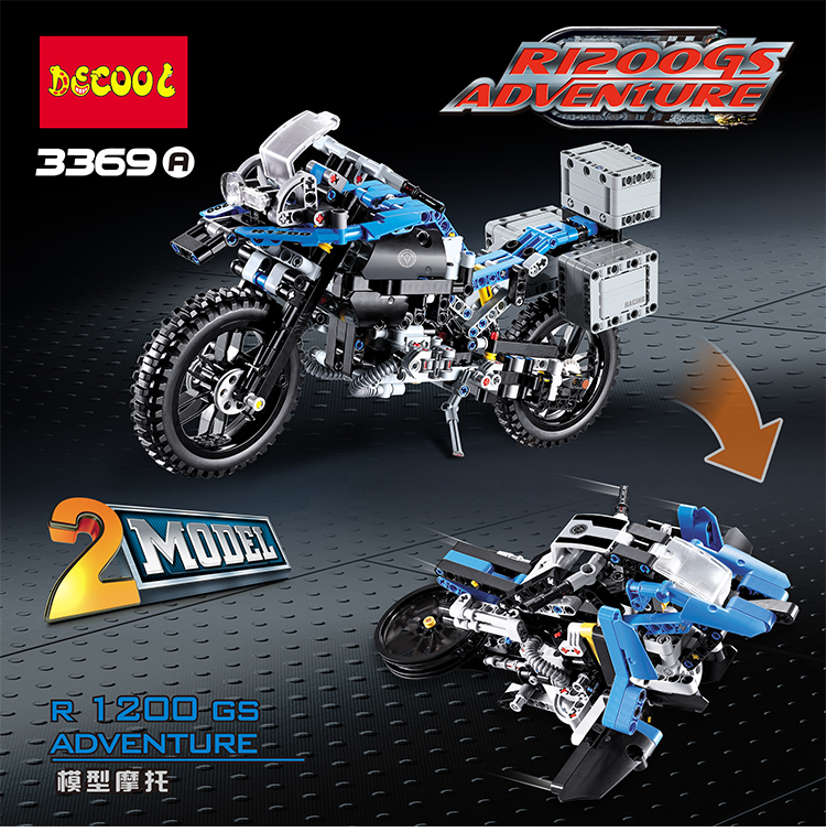 DECOO 3369 Technic Series The BAMW Off-road Motorcycles R1200 GS Building Blocks Bricks Educational Toys Lepin 20032 B11 r b parker s the devil wins