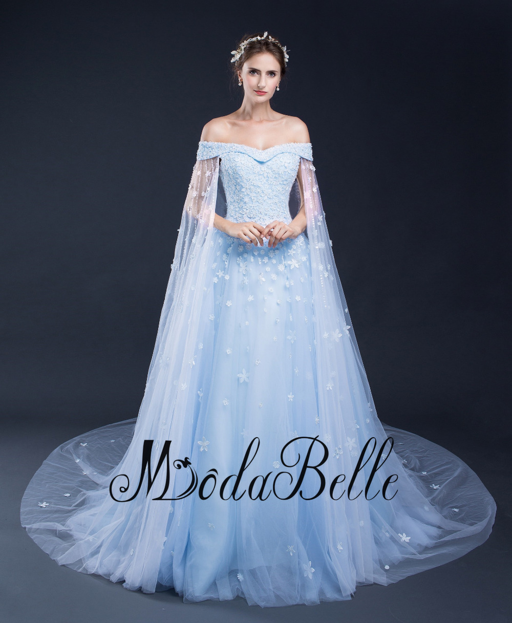 Light Blue Wedding Dress Plus Size