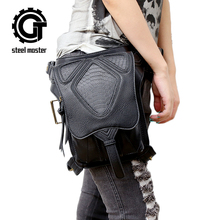 Steam punk retro rock messenger bag general mobile phone bag mini bag travel waist bag packs