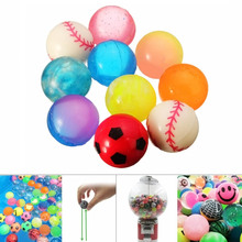 New Arrival 10pcs Colorful 27mm Bouncy Jet Balls Kids Toys For Pinata Loot Party Bag Stocking Fillers Leisure Time88 YJS stocking fillers