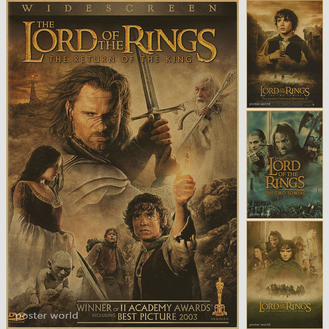 the lord of the rings the fellowship of the ring retro poster