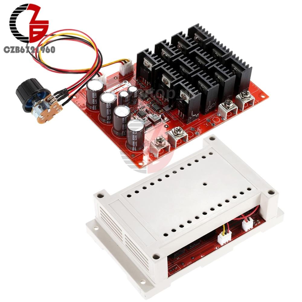 10-50V 60A DC Motor Speed Controller PWM HHO RC Controller 12V 24V 48V 3000W Case цены