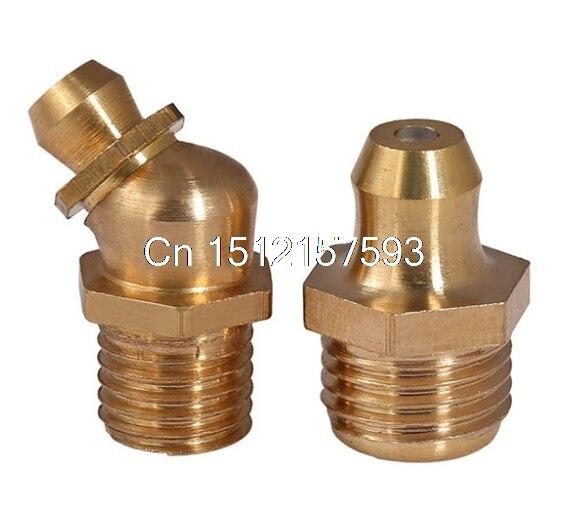 25pcs M6 M6*1 (Thread Diameter*Pitch) Metric Brass Bronze Straight Copper Grease Zerk Nipple Grease Fitting