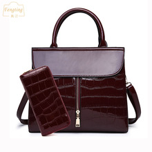 Wine red luxury leather handbags women bag with front zip 20