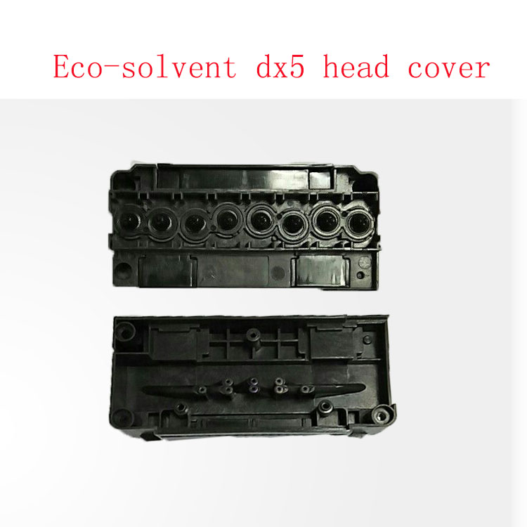 Free shipping eco solvent DX5 head cover for Allwin Human Xuli Galaxy printer DX5 print head manifold wholesale in Printer Parts from Computer Office