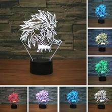 New Dragon Ball Super Saiyan Monkey Son Goku 3D Table Lamp Luminaria Led Night Lights lighting Mood illusion Lamp great gifts