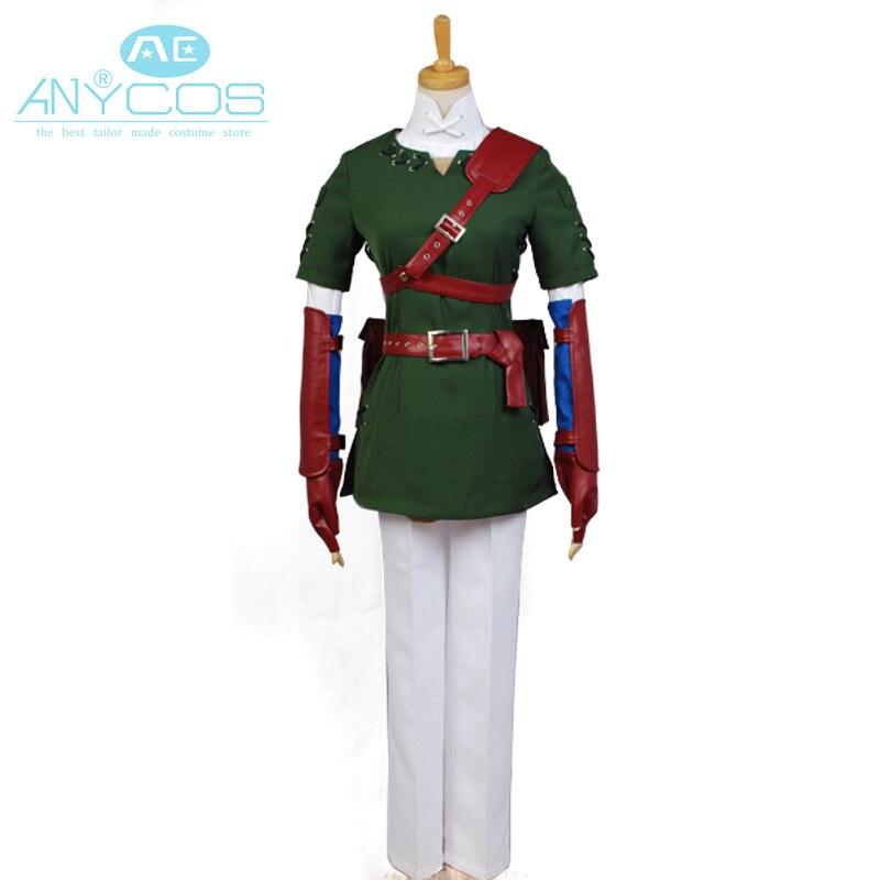 The Legend of Zelda Cosplay Costume Zelda Link Uniform Outfit Jacket Game Halloween Cosplay Costume For Men Custom Made NEW