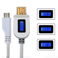 LCD Digital Indicator Micro USB Data Sync Charging Cable Current Voltage chargeTime Intelligent cable for Samsung/HTC/huawei