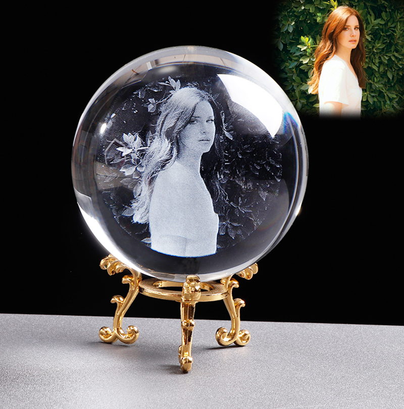 Personalized Crystal Photo Ball Customized Picture Sphere Globe Home Decor Accessories Baby Photo Gift for Girlfriend 14