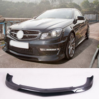 R E Style Carbon fiber Front Lip Spoiler Fit For Benz W204 C63