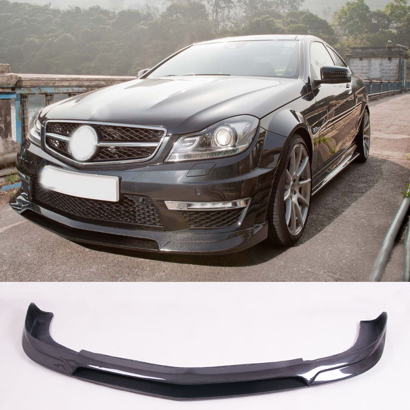 R-E Style Carbon fiber <font><b>Front</b></font> <font><b>Lip</b></font> Spoiler Fit For <font><b>Benz</b></font> <font><b>W204</b></font> C63 image