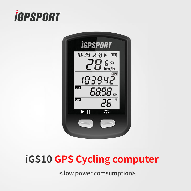 iGPSPORT iGS10 Bicycle GPS Computer IPX6 BTE4.0 ANT+ Wireless Speedometer Mileometer Cycling Computer For Riding Time Bicicleta igpsport gps bicycle bike cycling computer waterproof ipx6 wireless speedometer bicycle digital stopwatch cycling speedometer