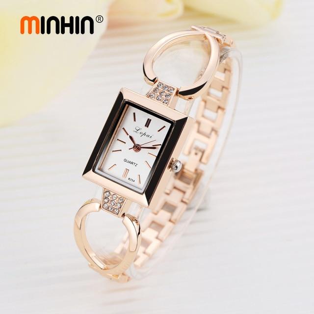 MINHIN Brand Ladies Bracelet Watch Women Luxury Hollow Chain Band Quartz Wristwa