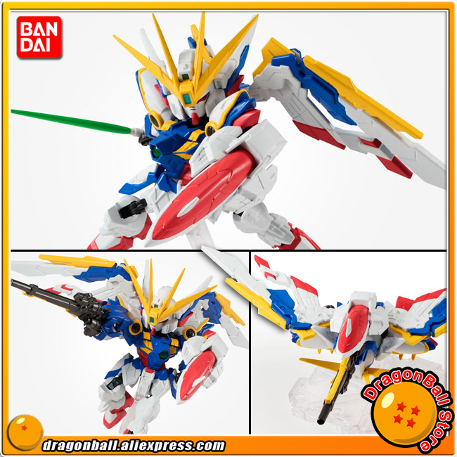 Japan Anime Gundam Wing: Endless Waltz Original BANDAI Tamashii Nations NXEDGE STYLE Action Figure - Wing Gundam (EW Ver.) free shipping action figures robot anime assembled gundam mg 1 100ew wing zero gundam luminous stickers original box gundam