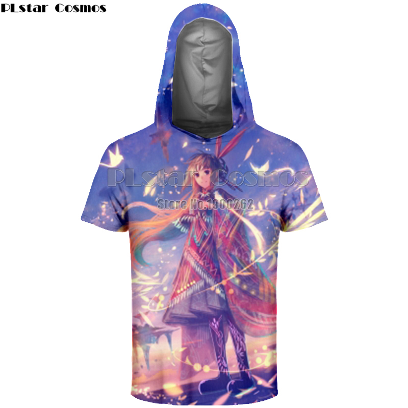 PLstar Cosmos Anime Vocaloid Hatsune Miku Japanese Famous Animation Novelty 3D Full Print T Shirt With Hat Pop Popular T shirt in T Shirts from Men 39 s Clothing