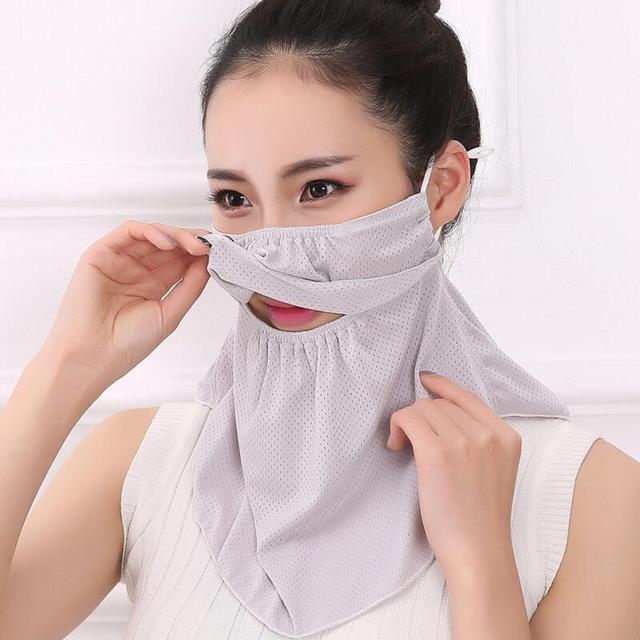 Summer Spring Breathable women neck protection face mask sun protective Shade anti-dust mask Mouth-muffle Mask Flu Face masks 1