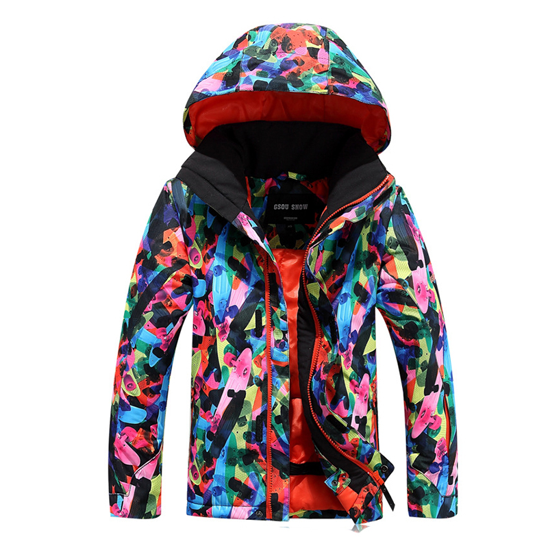 New Children Boys Snow Winter Cotton-padded Windbreaker Snowboard Ski Jacket Kids Outdoor Waterproof Coat With Hooded Parka 2016 new brand children snow runner self balance scooter snow bicycle for kids ski kits