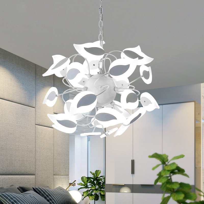 Modern Acrylic Leaf Led Chandelier Lighting Dining Room Dimmable Led Pendant Chandeliers Lights Bedroom Suspension Lamp FixturesModern Acrylic Leaf Led Chandelier Lighting Dining Room Dimmable Led Pendant Chandeliers Lights Bedroom Suspension Lamp Fixtures