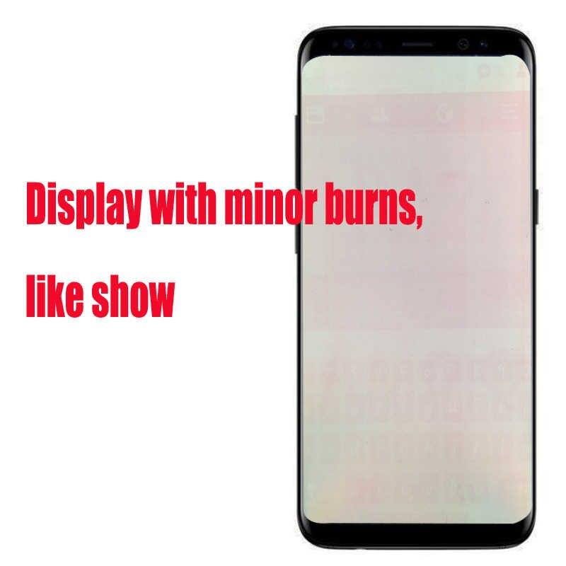 100% الأصلي S8 LCD مع الإطار لسامسونج غالاكسي S8 G950 G950F عرض S8 زائد G955 G955F محول الأرقام بشاشة تعمل بلمس