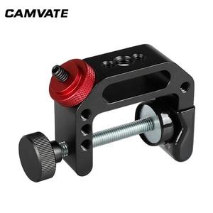 "Image 2 - Camvateユニバーサルカメラcクランプサポートクランプクランプで1/4 "" 20スレッド用一眼レフカメラ写真アクセサリー"