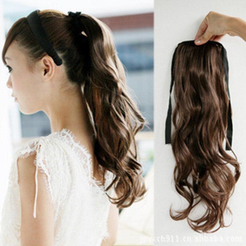 top cheap women long ponytail fluffy