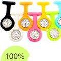 Карманный & Брелок Часы Силикона Круглые Часы Резиновые Доктор Часы Кварцевые Часы Часы Медсестра Брошь Женщины Watcjhed Часы