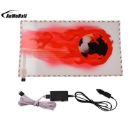 Car Styling Red Fireball Car Stickers Music Rhythm LED Flash Lamp Sound Activated Lights 2000H 9