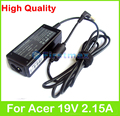 40 W 19 V 2.15A AC fuente de alimentación adapter para Acer Aspire V3-572 V5 MS2360 MS2361 V5-121 V5-122 V5-123 V5-131 V5-132 V5-171 cargador