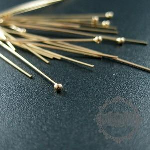 Image 2 - 24 Gauge 0.5X50.8 Mm Gold Filled Hoge Kwaliteit Kleur Niet Aangetast Ball Headpin Diy Kralen Sieraden Benodigdheden Bevindingen 1515012