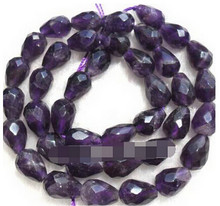 "DYY + + + 819 6x10mm Amethyst Faceted Teardrop Beads 15""(China)"