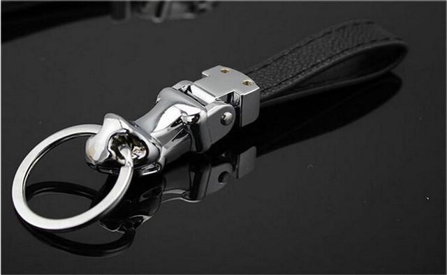Fashion Leather Men's Keychain