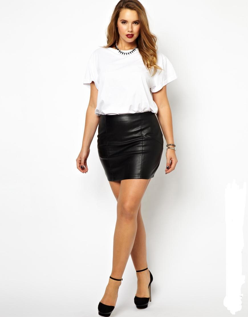 Aliexpress.com : Buy short pu leather skirts plus size 5XL 6XL ...