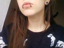 2 Piece Nose Ring Goth Punk Lip Ear Nose Clip