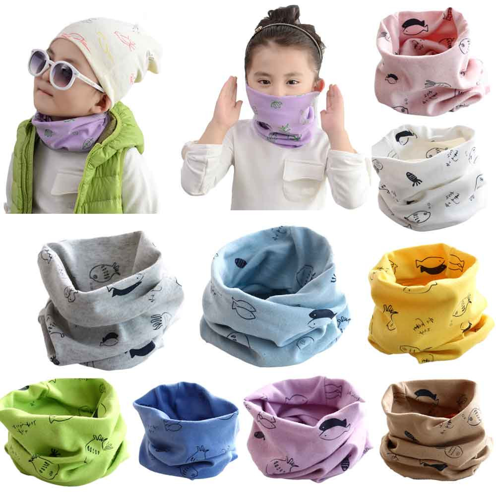 SMILEQ Autumn Winter Boys Girls Collar Baby Scarf Cotton O Ring Neck Scarves