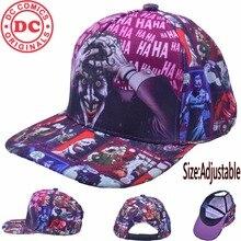 Suicide squad Joker sombrero del SnapBack ajustar gorra de béisbol hip hop  Bordado sombrero para hombres mujeres d4f0f27d97c