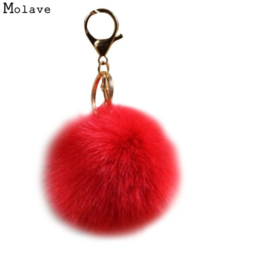 Adroit 1PC Mini Artificial Rabbit Fur Ball Ring Chain Bag Plush Pendant For Car For Bag 20S61226 drop shipping