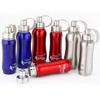 Stainless Steel Water Bottle 600ml 800ml 1000ml Thermal Pot Portable For Bicycle Sport Bottles