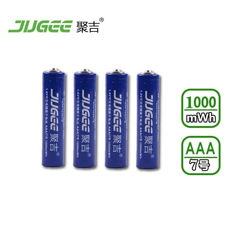 4PCS 10440 JUGEE 1.5 v AAA lifepo4 lithium ionen batteries AAA 1000mWh rechargeable li-ion Li-polymer Li-Po battery apply Toys