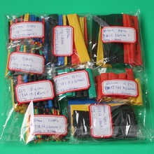Heat Shrink Tubing Tube Assorted Polyolefin Cable Sleeves Wrap Wire Set 8 Size Multicolor Black Red Yellow, Blue Green(China)