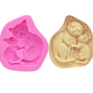 M0431 3D кошачий силикон формы силиконовые формы инструменты для украшения шоколадного торта кухонные Кондитерские инструменты для выпечки