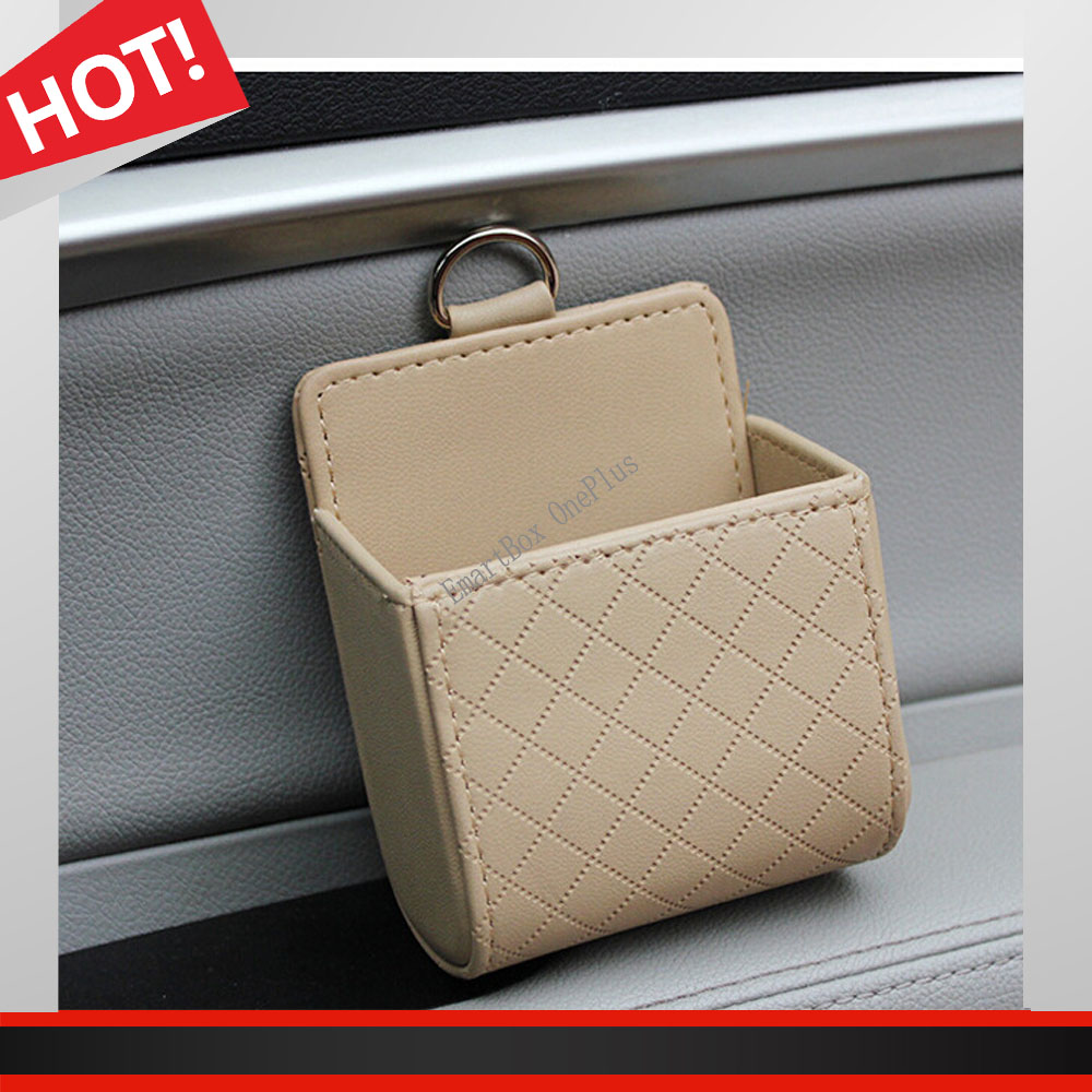 Functional Auto Car Outlet Seat Back Tidy Storage Coin Bag Case Pocket Organizer Hanging Holder Pounch Box For Iphone