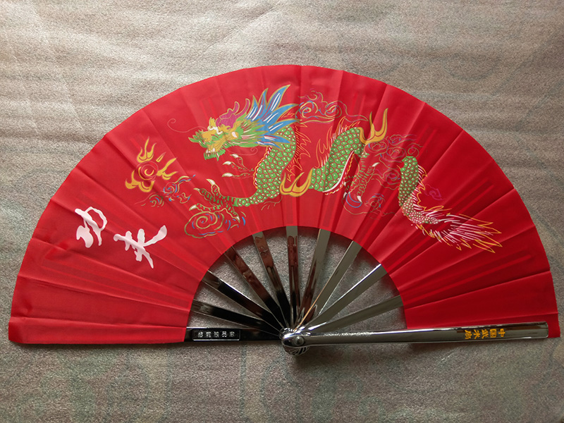 Premium Dragon Pattern Stainless Steel Martial Arts Fan 2