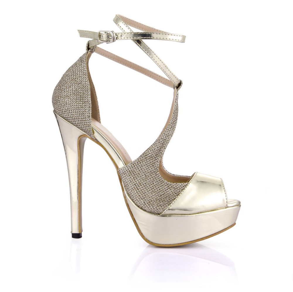 women new fashion gladiator high heels platform sandals open toe buckle summer pumps female sexy ankle strap gold patchwork shoe new ankle strap open toe high heels sexy ladies shoe women summer gold silver black sequins leather sexy sandals shoes smybk 022