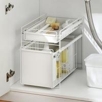 Kitchen shelf bathroom drawer storage rack floor wrought iron separation multi layer finishing shelf wx10151416