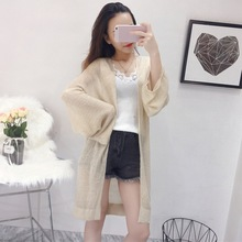 Women Blouse Casual Vintage Kimono Cardigan Ladies 2019 Summer Long Knitted Chiffon White Solid Loose Women Tops And Blouses цена